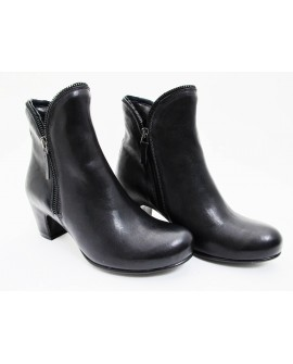 Ankle Boots All around Zip Black