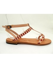 Leather Sandal Antibes Red
