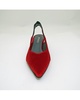 SLINGBACK VELLUTO ROSSO